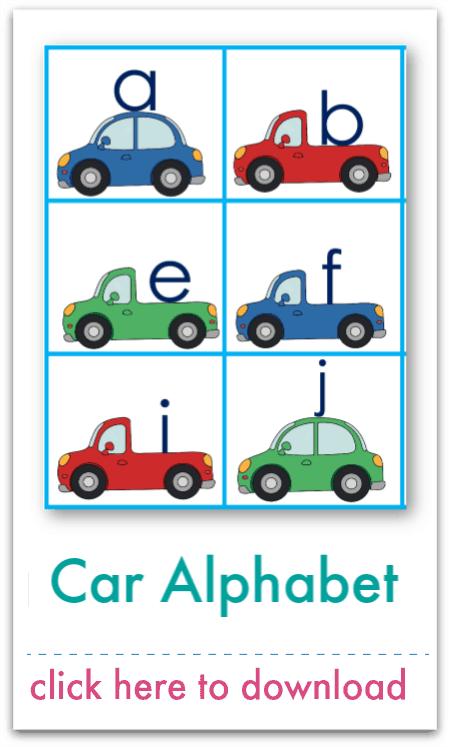 car alphabet