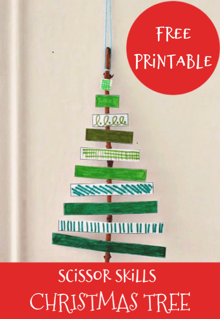 How To Make A Paper Christmas Tree Craft With Printable