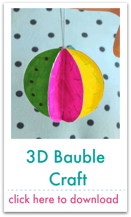 3d bauble craft