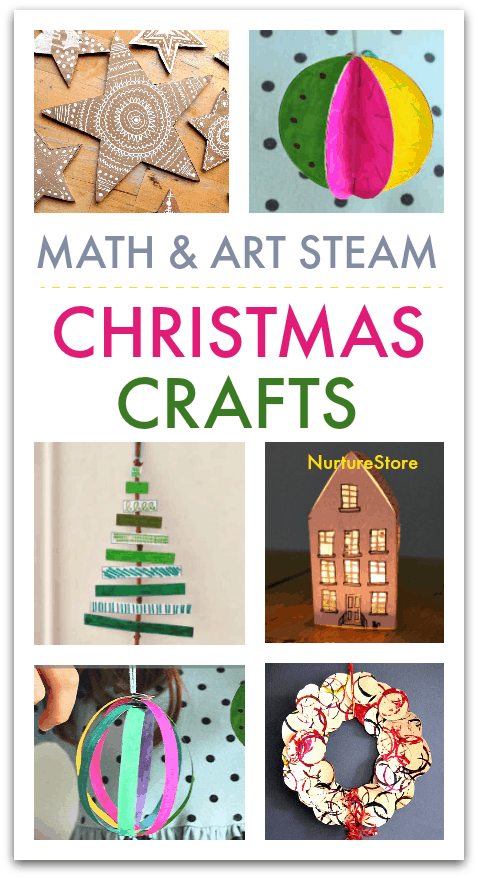 Crafts For Christmas.Math And Art Steam Crafts For Christmas Nurturestore