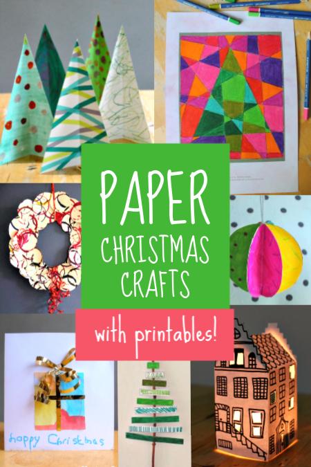 Easy Paper Christmas Crafts Printables For Children Nurturestore