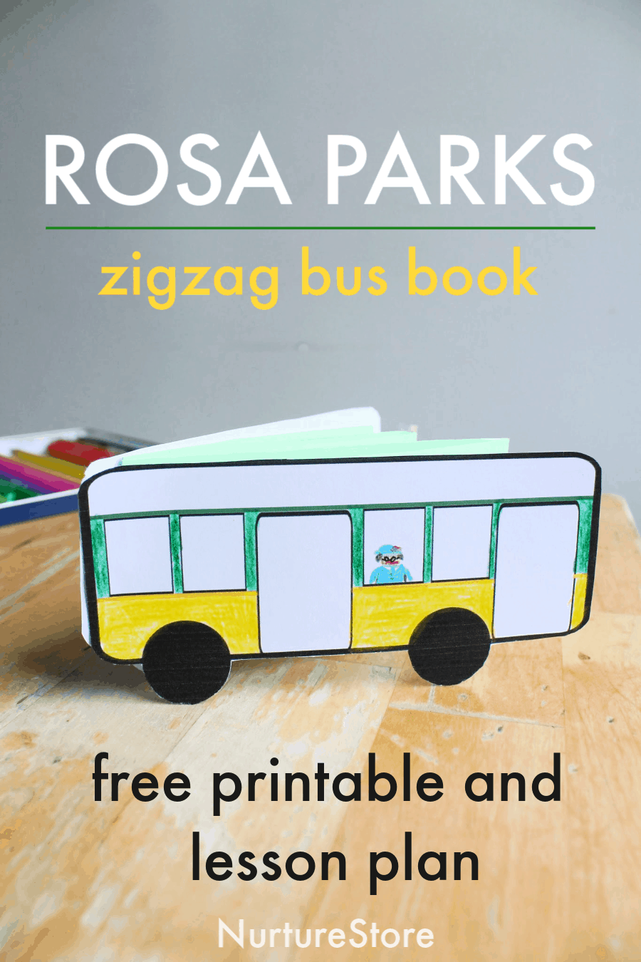Rosa Parks Lesson Plan With Free Printable Bus Book Nurturestore