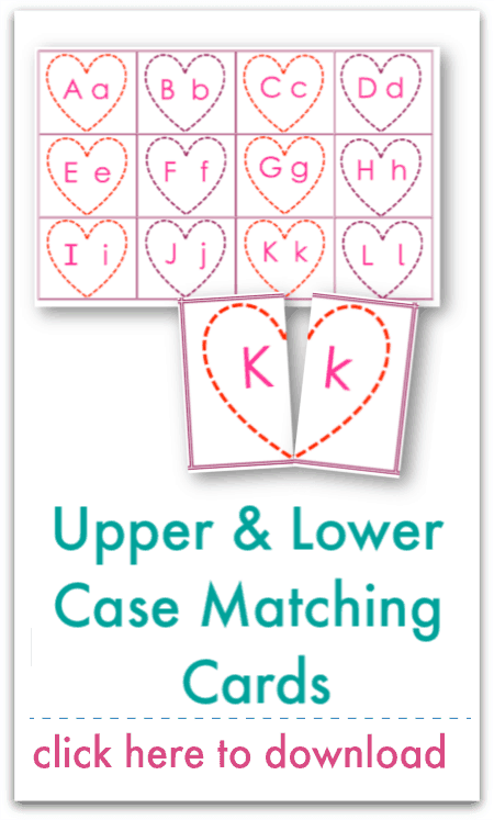upper and lower case matching cards