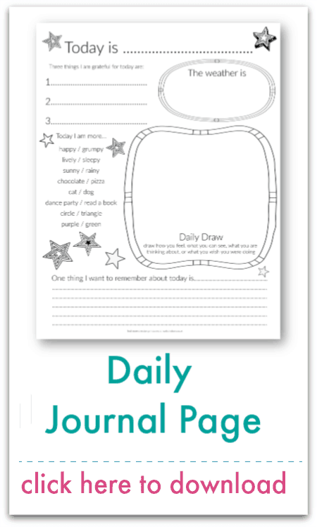 daily journal page
