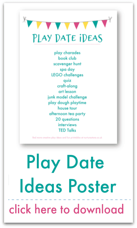 play date ideas poster