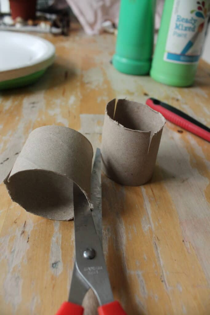 make a dinosaur crafts from toilet rolls