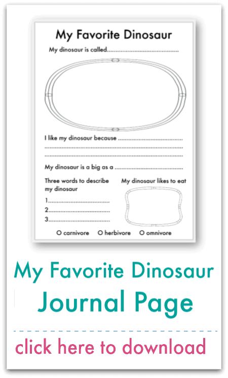 my favorite dinosaur journal page