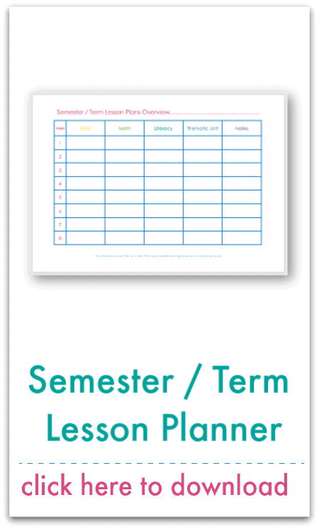 thematic unit planner