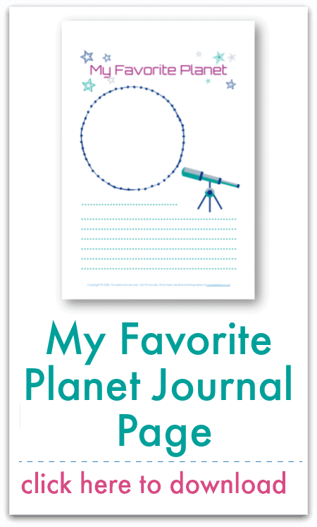 my favorite planet journal page