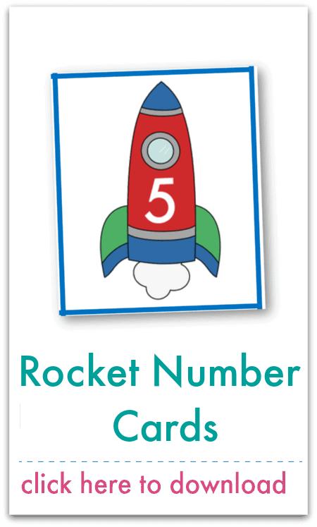 rocket number cards