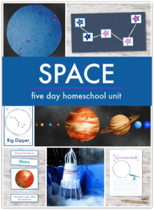 a unit of space themed activities for children