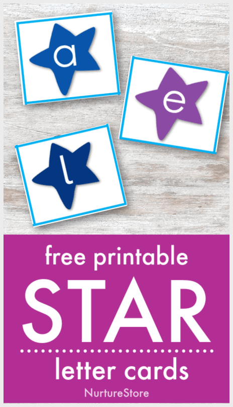 printable alphabet cards with stars on