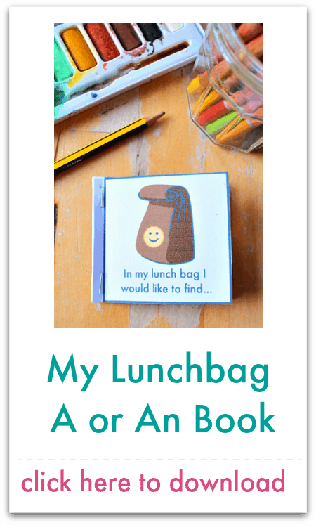my lunchbag a or an book