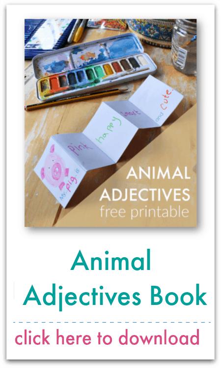 animal adjectives book