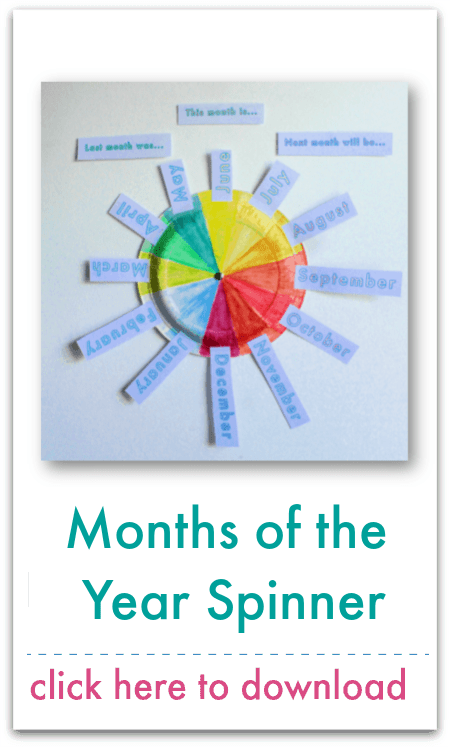 months of the year spinner