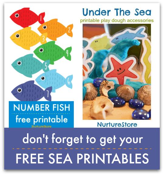 free sea themed printables