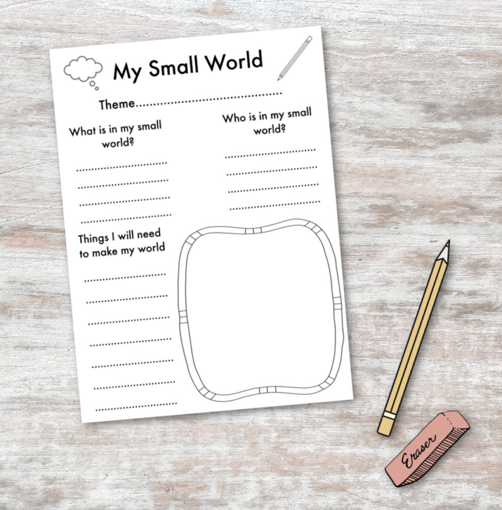 small world planning sheet